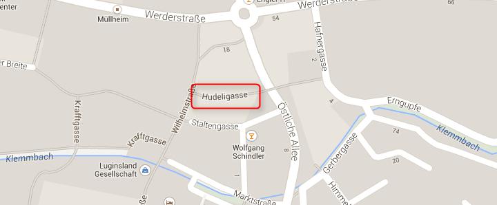Google Maps  Hudeligassse